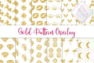 Gold Glitter Seamless Pattern Graphic By fantasycliparts