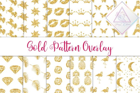 Print on Demand: Gold Glitter Seamless Pattern Graphic Patterns By fantasycliparts