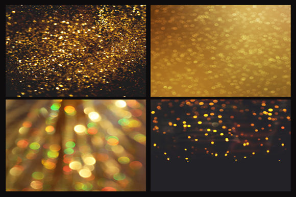 Print on Demand: Gold Bokeh Digital Paper Graphic Backgrounds By MixPixBox - Image 2