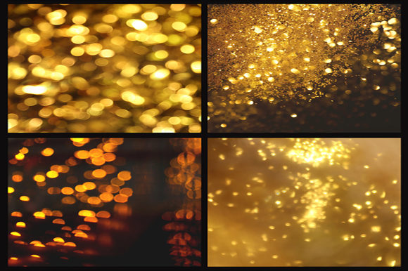 Print on Demand: Gold Bokeh Digital Paper Graphic Backgrounds By MixPixBox - Image 3