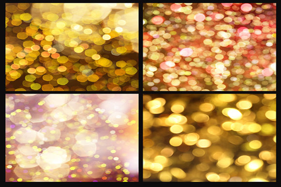 Print on Demand: Gold Bokeh Digital Paper Graphic Backgrounds By MixPixBox - Image 4