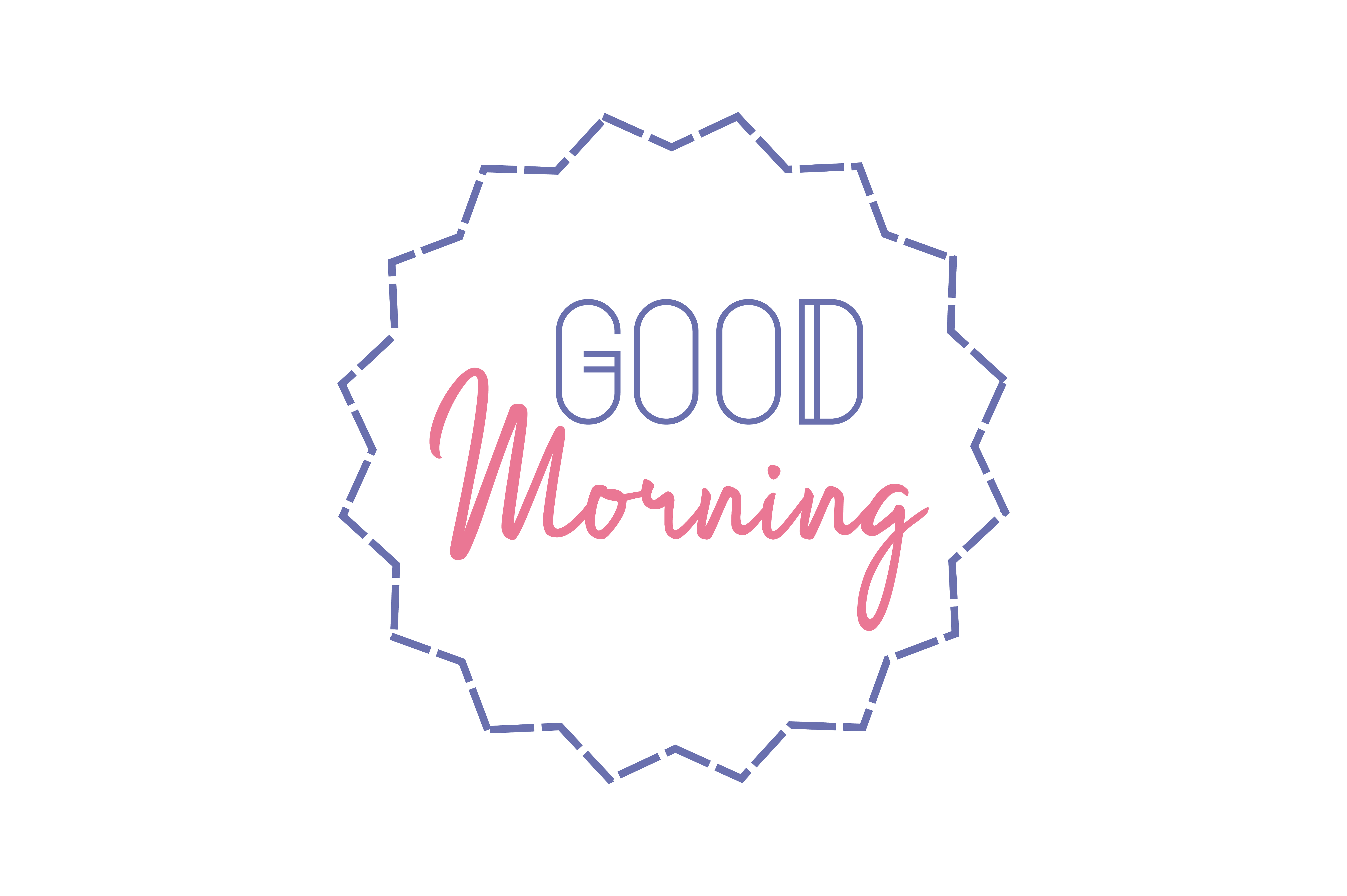 Download Free Good Morning Quote Graphic By Thelucky Creative Fabrica for Cricut Explore, Silhouette and other cutting machines.