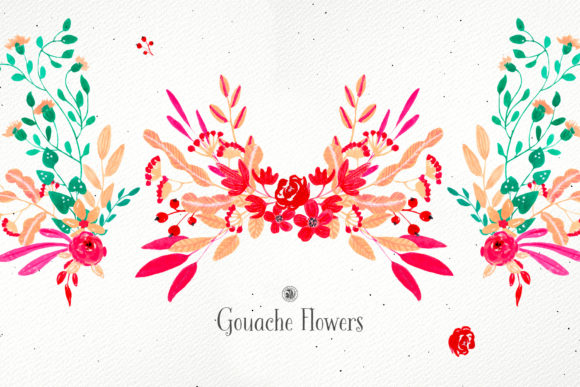 Gouache Flowers Graphic Illustrations By webvilla - Image 2