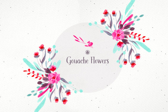 Gouache Flowers Graphic Illustrations By webvilla - Image 3