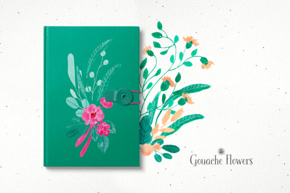 Gouache Flowers Graphic Illustrations By webvilla - Image 6