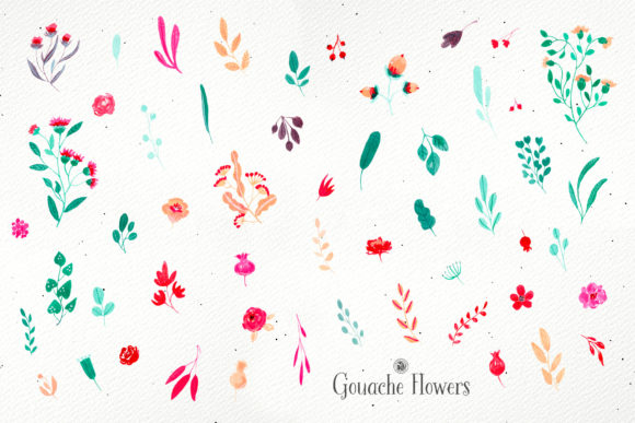 Gouache Flowers Graphic Illustrations By webvilla - Image 7