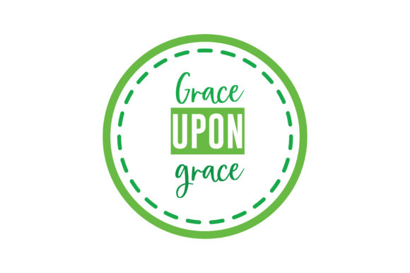 Download Free Grace Upon Grace Svg Cut Quote Graphic By Thelucky Creative for Cricut Explore, Silhouette and other cutting machines.