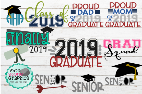 Graduation SVG Bundle Graphic Crafts By OneStoneGraphics