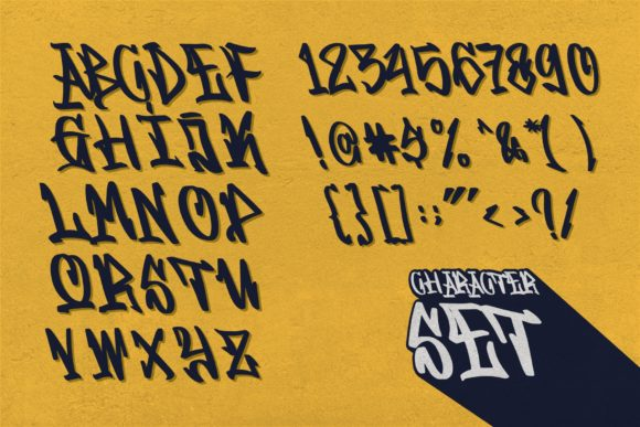 Print on Demand: Graffitasi Blackletter Font By goodjavastudio - Image 4