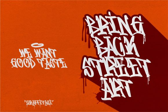 Print on Demand: Graffitasi Blackletter Font By goodjavastudio - Image 5