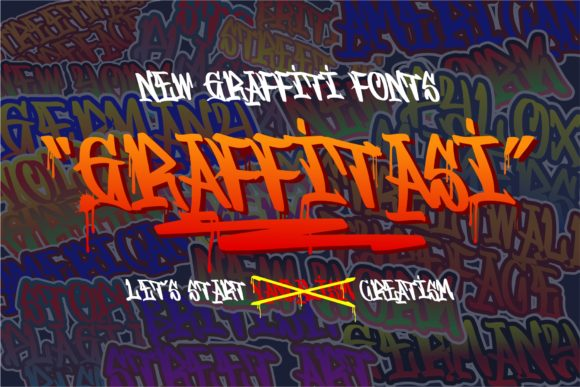 Print on Demand: Graffitasi Blackletter Font By goodjavastudio