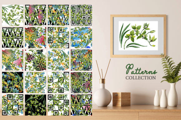 Download Free Green Orchid Watercolor Graphic By Mystocks Creative Fabrica for Cricut Explore, Silhouette and other cutting machines.