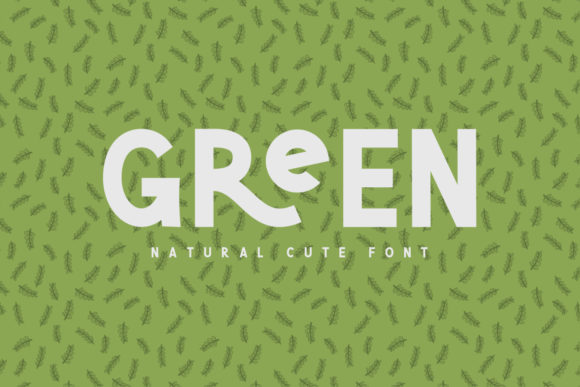 Print on Demand: Green Sans Serif Font By Sameeh Media