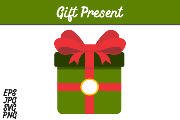 Print on Demand: Green Gift Present Vector Image Graphic Icons By Arief Sapta Adjie - Image 2
