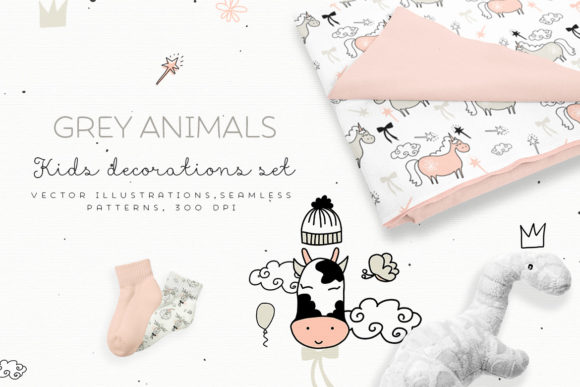 Grey Animals Graphic Illustrations By webvilla