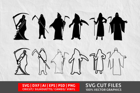 Download Free Grim Reaper Graphic By Design Palace Creative Fabrica for Cricut Explore, Silhouette and other cutting machines.