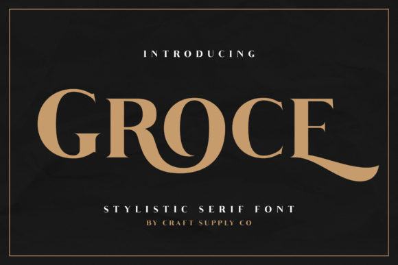 Print on Demand: Groce Serif Font By craftsupplyco