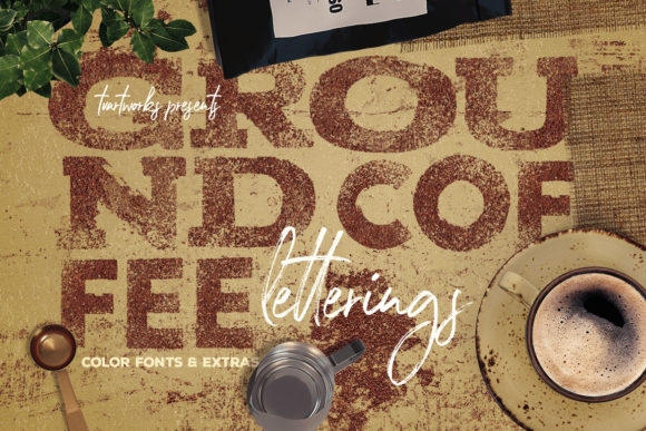 Download Free Ground Coffee Letterings Graphic By Tvartworks Creative Fabrica for Cricut Explore, Silhouette and other cutting machines.