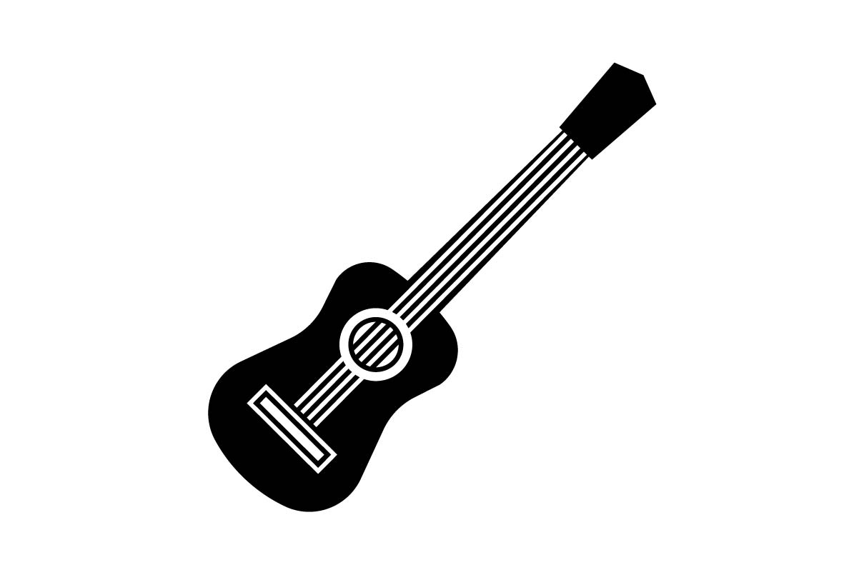 Download Free Guitar Icon Vector Graphic By Hoeda80 Creative Fabrica for Cricut Explore, Silhouette and other cutting machines.