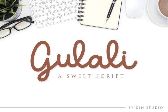Print on Demand: Gulali Script Script & Handwritten Font By Din Studio