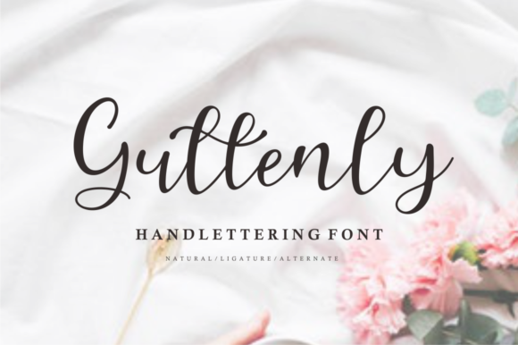 Print on Demand: Guttenly Script & Handwritten Font By mfikryalif