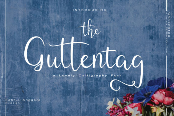 Print on Demand: Guttentag Script & Handwritten Font By Fahrul Anggoro