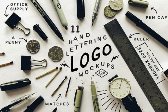Download Free Hand Lettering Logo Mock Up Graphic By Blue Robin Design Shop for Cricut Explore, Silhouette and other cutting machines.