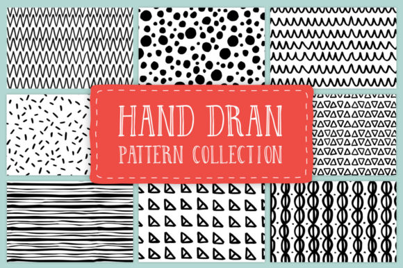 Hand Drawn Pattern Collection Graphic Patterns By anatartan - Image 1