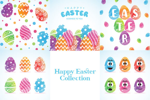 Happy Easter Collection Graphic Illustrations By izacuite