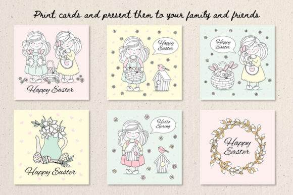 Happy Easter Illustration Set Graphic Illustrations By FARAWAYKINGDOM - Image 3