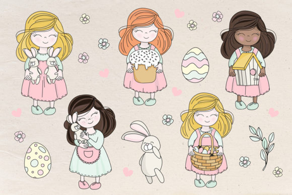 Happy Easter Illustration Set Graphic Illustrations By FARAWAYKINGDOM - Image 7