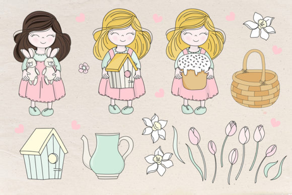 Happy Easter Illustration Set Graphic Illustrations By FARAWAYKINGDOM - Image 8