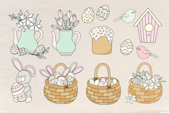 Happy Easter Illustration Set Graphic Illustrations By FARAWAYKINGDOM - Image 9