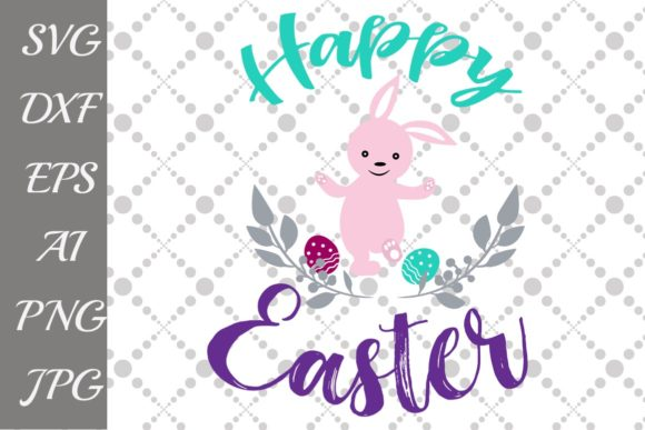 Download Free Happy Easter Bunny Graphic By Prettydesignstudio Creative Fabrica for Cricut Explore, Silhouette and other cutting machines.