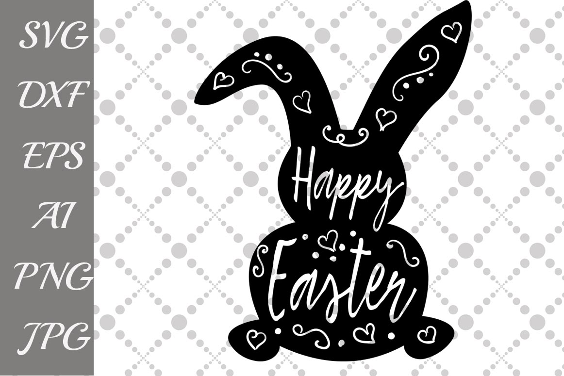 Download Free Happy Easter Bunny Graphic By Prettydesignstudio Creative for Cricut Explore, Silhouette and other cutting machines.