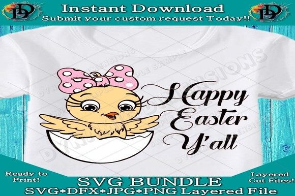 Download Free Happy Easter Y All Graphic By Dynamicdimensions Creative Fabrica for Cricut Explore, Silhouette and other cutting machines.