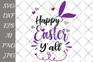 Download Free Happy Easter Y All Svg Graphic By Prettydesignstudio Creative for Cricut Explore, Silhouette and other cutting machines.