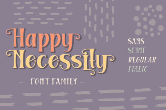 Print on Demand: Happy Necessity Family Display Font By Rifki (7ntypes)