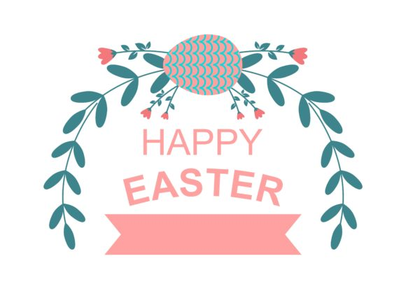 Download Free Happy Easter Egg Logo Vector Graphic By Deemka Studio Creative Fabrica for Cricut Explore, Silhouette and other cutting machines.