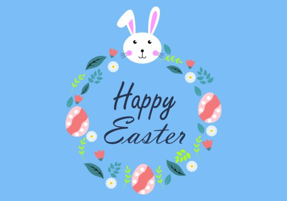 Download Free Happy Easter Egg Logo Vector Graphic By Deemka Studio for Cricut Explore, Silhouette and other cutting machines.