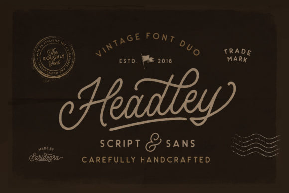 Print on Demand: Headley Duo Script & Handwritten Font By saridezra - Image 1