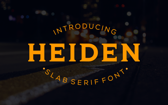 Print on Demand: Heiden Slab Serif Font By LetterBeary