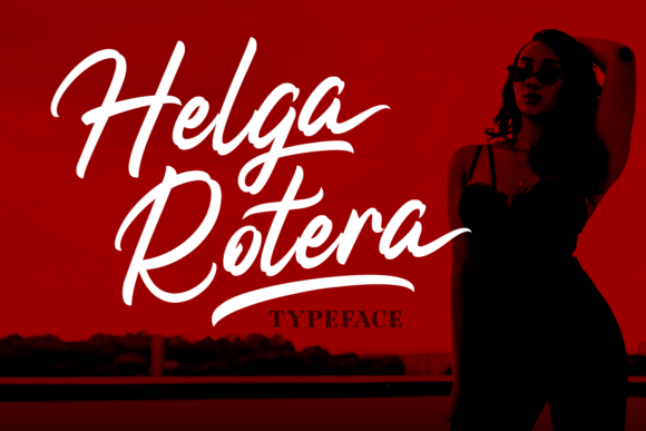 Print on Demand: Helga Rotera Script & Handwritten Font By Adyfo (7NTypes)