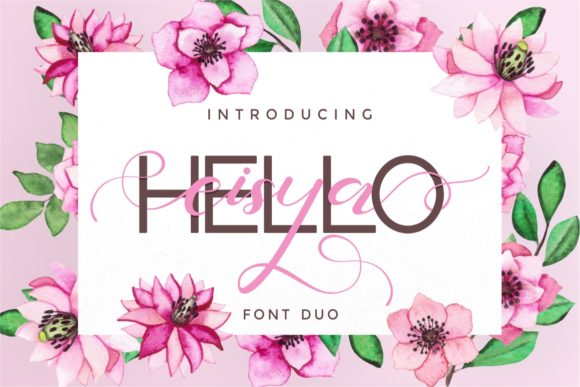 Print on Demand: Hello Eisya Duo Script & Handwritten Font By putracetol