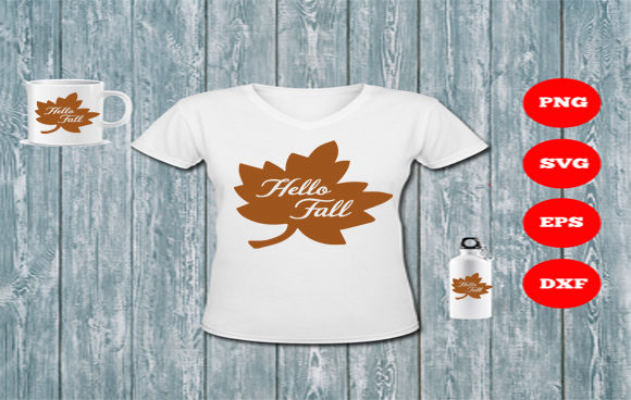 Download Free Hello Fall Maple Leaf Cut File Graphic By Sweet Southern Charms for Cricut Explore, Silhouette and other cutting machines.