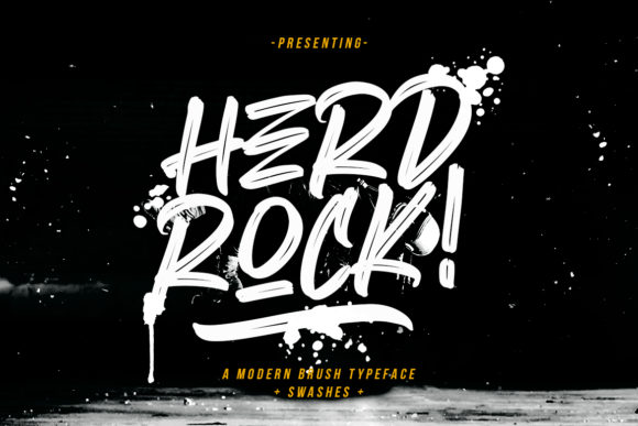 Print on Demand: Herdrock Display Font By CreatypeStudio