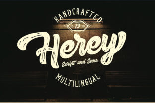 Herey Duo Font By InspiraType
