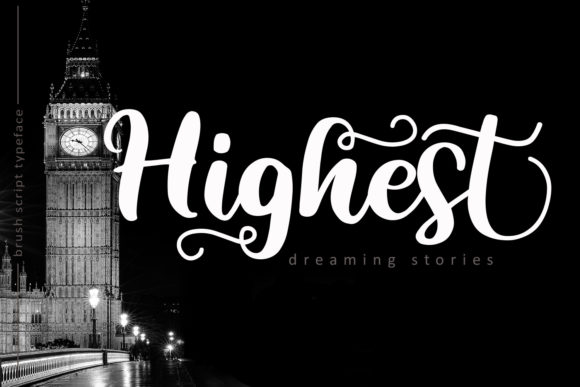 Print on Demand: Highest Script Script & Handwritten Font By josgandos