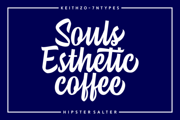 Print on Demand: Hipster Salter Script & Handwritten Font By Keithzo (7NTypes) - Image 2