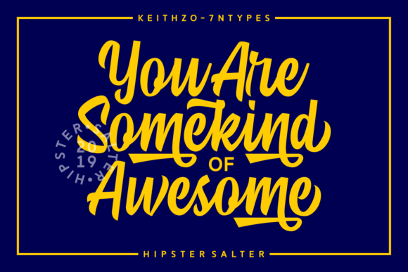 Print on Demand: Hipster Salter Script & Handwritten Font By Keithzo (7NTypes) - Image 3